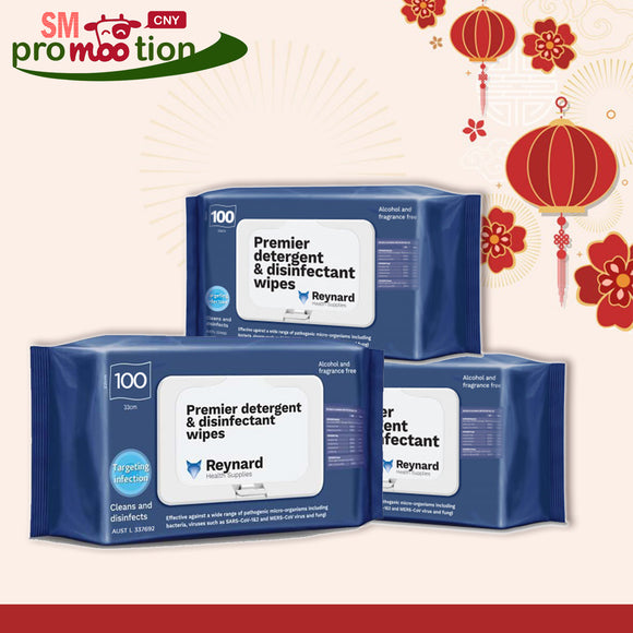 CNY SALE: Reynard Premier Disinfectant Wipes 3 Packs (8% OFF)