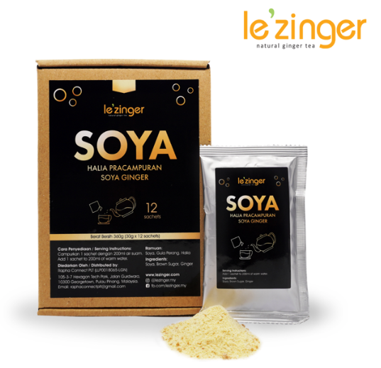 Le'zinger Soya Ginger with Brown Sugar (12 sachets)