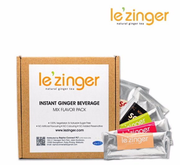 Le'zinger Ginger Assorted Pack (20 sachets)