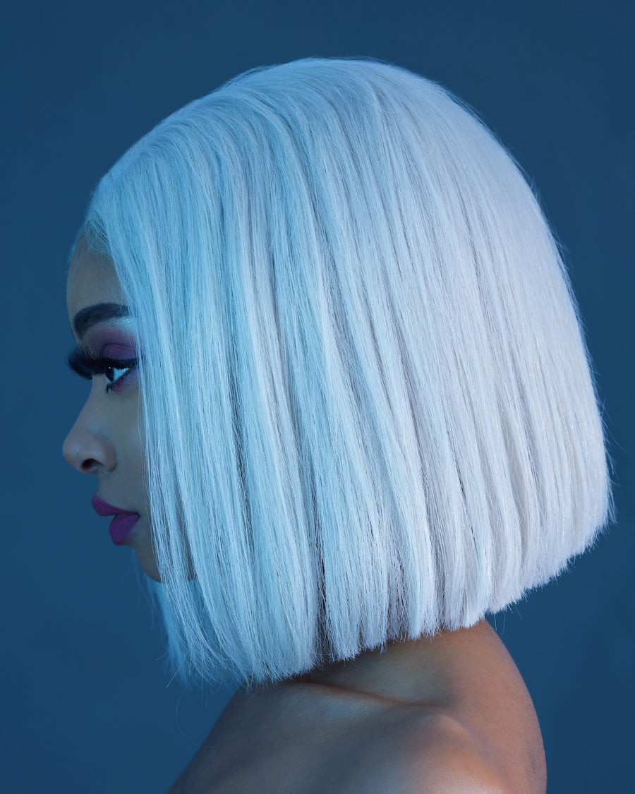 Almond Latte Blonde Bob