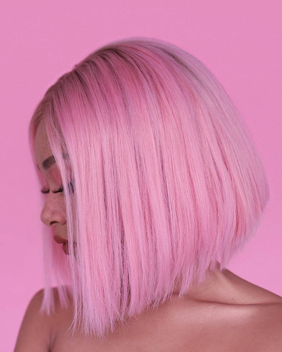 Bubblegum Pink Bob (+Roots)