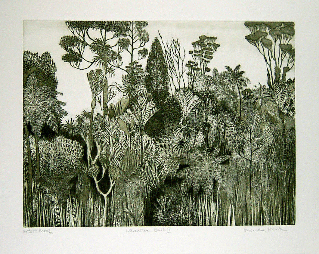 Waitakare Bush II (Dark green)