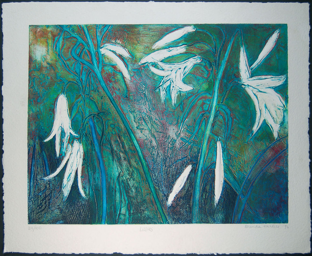 Lillies (blue)