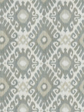 Load image into Gallery viewer, 7 Colorways Ikat Medallion Cotton Drapery Fabric Cream Blush Beige Black