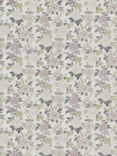 Load image into Gallery viewer, 5 Colorways Floral Chinoiserie Asian Bird Drapery Fabric Blue Beige Red Grey