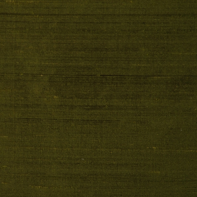 Pure Handwoven Silk Dupioni Drapery Fabric Dark Green / Ivy