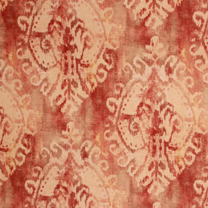 Ombre Linen Viscose Medallion Ikat Drapery Fabric Brown / Sante Fe RMIL1