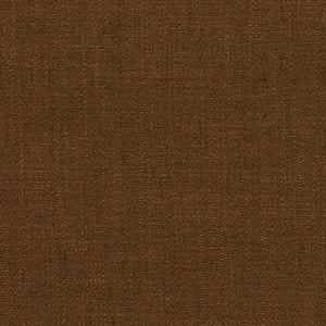 Barrister Brown  Upholstery Minimalist Linen Poly Fabric / Truffle