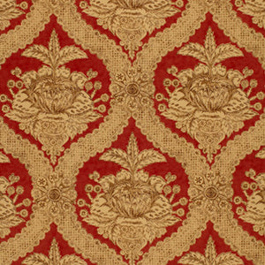 SCHUMACHER HADDON HALL DAMASK FABRIC 172781 / VENETIAN RED