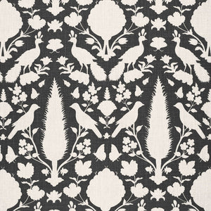 SCHUMACHER CHENONCEAU FABRIC 173563 / CHARCOAL
