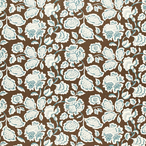 SCHUMACHER DECO FLOWER FABRIC 173703 / COCOA
