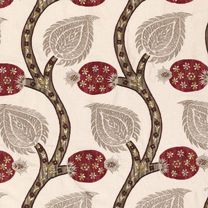 SCHUMACHER NURATA EMBROIDERY FABRIC 174182 / STONE