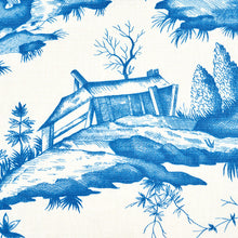 Load image into Gallery viewer, SCHUMACHER SHENGYOU TOILE FABRIC 175804 / BLUE