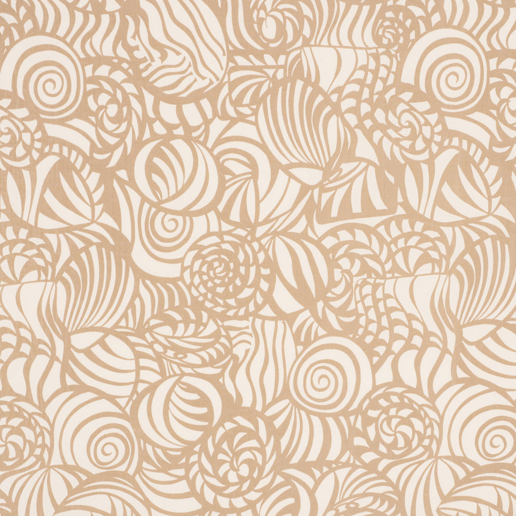 SCHUMACHER SEASHELLS INDOOR OUTDOOR FABRIC 176680 / SAND