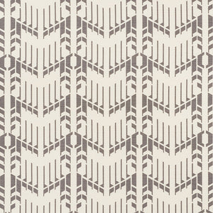 SCHUMACHER PRICE HOUSE PRINT FABRIC / GREY