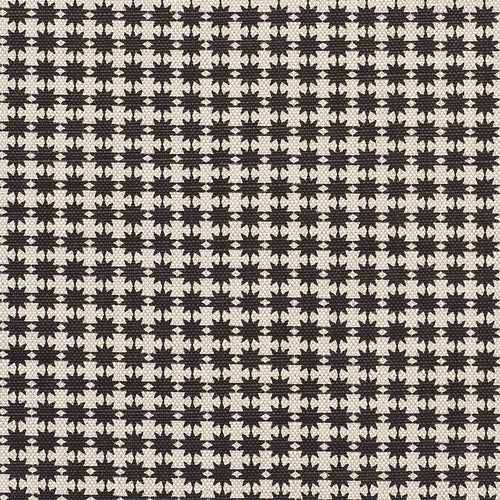 SCHUMACHER STELLA FABRIC 177087 / BLACK & NATURAL
