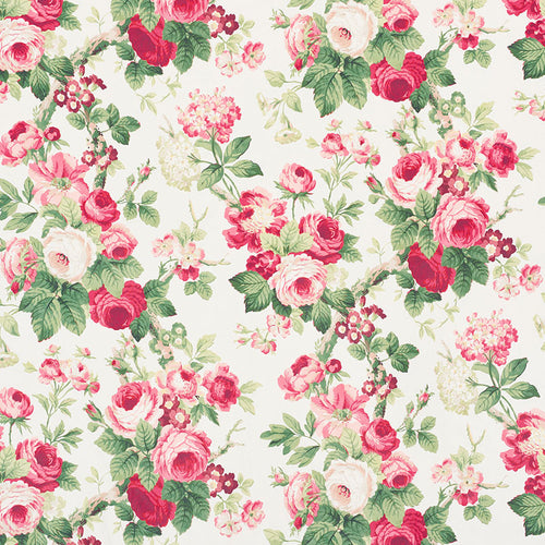 SCHUMACHER NANCY FABRIC 177200 / ROSE