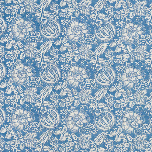 SCHUMACHER POMEGRANATE PRINT FABRIC 177690 / INDIGO
