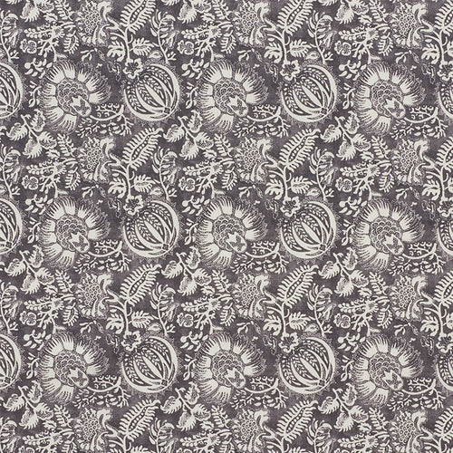 SCHUMACHER POMEGRANATE PRINT FABRIC 177691 / CHARCOAL