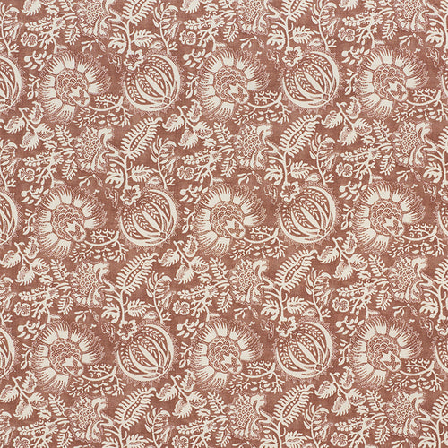 SCHUMACHER POMEGRANATE PRINT FABRIC 177692 / RUSSET