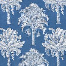 Load image into Gallery viewer, SCHUMACHER GRAND PALMS FABRIC 178002 / BLUE