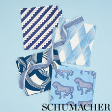 Load image into Gallery viewer, SCHUMACHER MARTINGALE FABRIC 178032 / BLUE