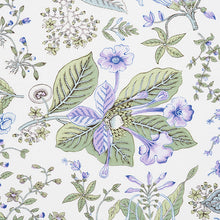 Load image into Gallery viewer, Schumacher Pomegranate Botanical Fabric 178120 / Purple