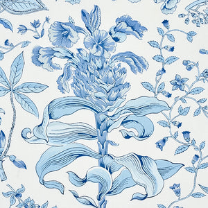 Schumacher Pomegranate Botanical Fabric 178124 / Blue