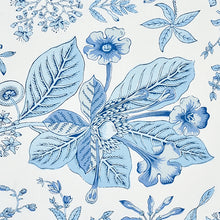 Load image into Gallery viewer, Schumacher Pomegranate Botanical Fabric 178124 / Blue