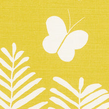 Load image into Gallery viewer, SCHUMACHER FERN SILHOUETTE FABRIC / YELLOW
