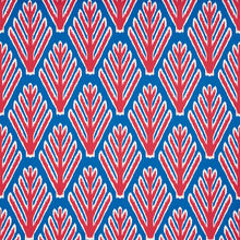 Load image into Gallery viewer, SCHUMACHER BODHI TREE FABRIC 178561 / BLUE & RED