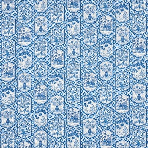 SCHUMACHER TING TING FABRIC 178571 / BLUE