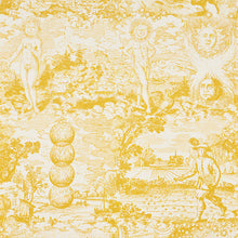 Load image into Gallery viewer, SCHUMACHER MODERN TOILE FABRIC 178622 / YELLOW