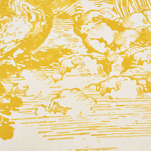 SCHUMACHER MODERN TOILE FABRIC 178622 / YELLOW