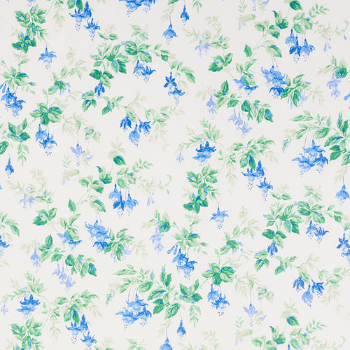 SCHUMACHER GARDEN GATE CHINTZ FABRIC 178680 / COBALT