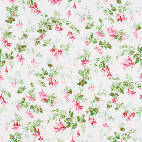 SCHUMACHER GARDEN GATE CHINTZ FABRIC 178681 / MAGENTA