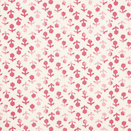 Schumacher Beatriz Hand Blocked Print Fabric 179350 / Pink