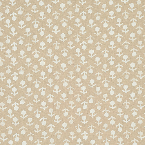 Schumacher Beatriz Hand Blocked Print Fabric 179352 / Natural