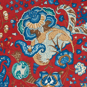Schumacher Majorelle Velvet Fabric 179421 / Red