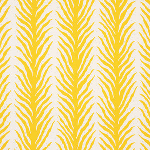 Schumacher Creeping Fern Fabric 179481 / Lemonade