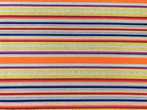 Designer Water & Stain Resistant Neon Orange Chartreuse Green Royal Blue Red Taupe Pink Stripe Upholstery Fabric