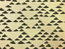 Load image into Gallery viewer, Designer Water & Stain Resistant Tribal Ethnic Geometric Abstract Southwestern Beige Black Woven Kilim Upholstery Drapery Fabric