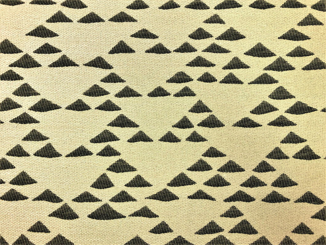 Designer Water & Stain Resistant Tribal Ethnic Geometric Abstract Southwestern Beige Black Woven Kilim Upholstery Drapery Fabric