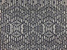 Load image into Gallery viewer, Designer Charcoal Gray Grey Tribal Ethnic Mudcloth Velvet Upholstery Fabric