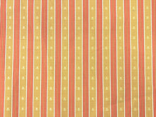 Load image into Gallery viewer, Kravet Mustard Gold Coral Embroidered Small Scale Floral Stripe Upholstery Drapery Fabric