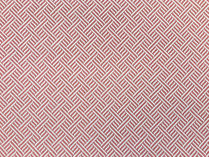 Robert Allen Beach Club Bk Rhubarb Rose Red Pink White Geometric Trellis Lattice Upholstery Fabric