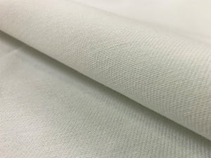 White Cotton Twill MCM Mid Century Modern Upholstery Drapery Fabric