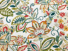 Load image into Gallery viewer, Mill Creek Enya Opal Ivory Teal Green Red Yellow Lime Beige Floral Upholstery Drapery Fabric