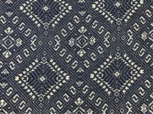 Load image into Gallery viewer, Jasper Fabrics Michael Smith Marina Deep Ocean Indoor Outdoor Navy Blue Gray Water & Stain Resistant Tribal Upholstery Drapery Fabric
