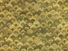 Load image into Gallery viewer, Kravet Sage Olive Green Wheat Gold Art Deco Abstract Chenille Upholstery Fabric